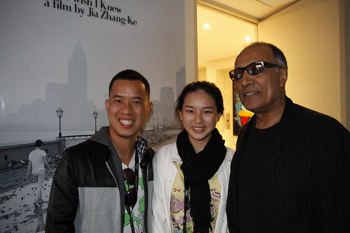 Ming Jin and Fooi Mun with Abbas Kiarostami