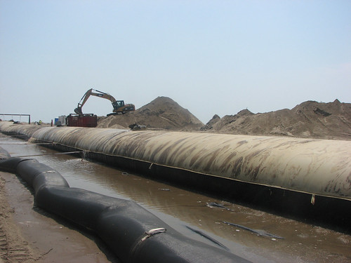 Grande Isle Geotube Construction | by Team New Orleans, US Army Corps of Engineers