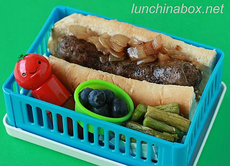 Rooster sausage bento lunch for preschooler | by Biggie*