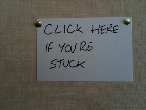 CLICK HERE IF YOU'RE STUCK | by Ben Terrett