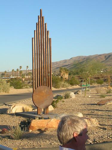 Memorial Sculpture dedicated to Michael Swigart, Twentynine Palms, CA.