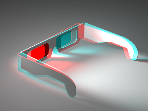 "Illusion of Depth and Space (15/22) - Colour 3D Anaglyph of 3D Anaglyph (Red and ""Green"") Stereoscopic Glasses 