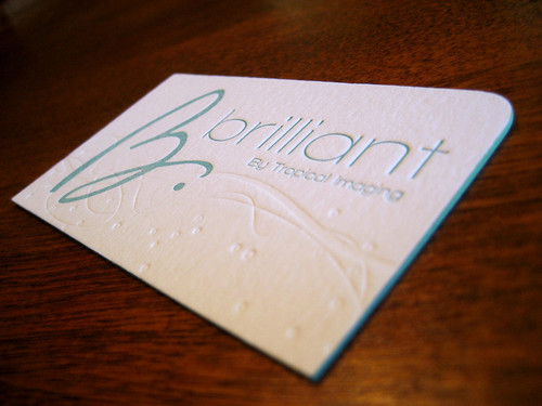 Brilliant Business Card Front | by Anemone Letterpress