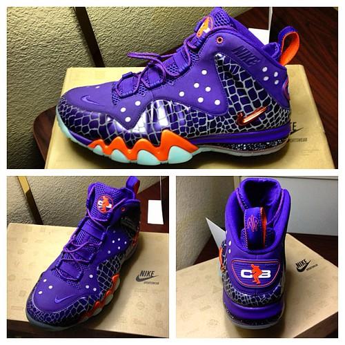 Nike Barkley Posite Max Round Toe Synthetic Basketball Shoe