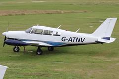 G-ATNV - 1966 build Piper PA-24-260 Comanche, visiting Barton for a few days