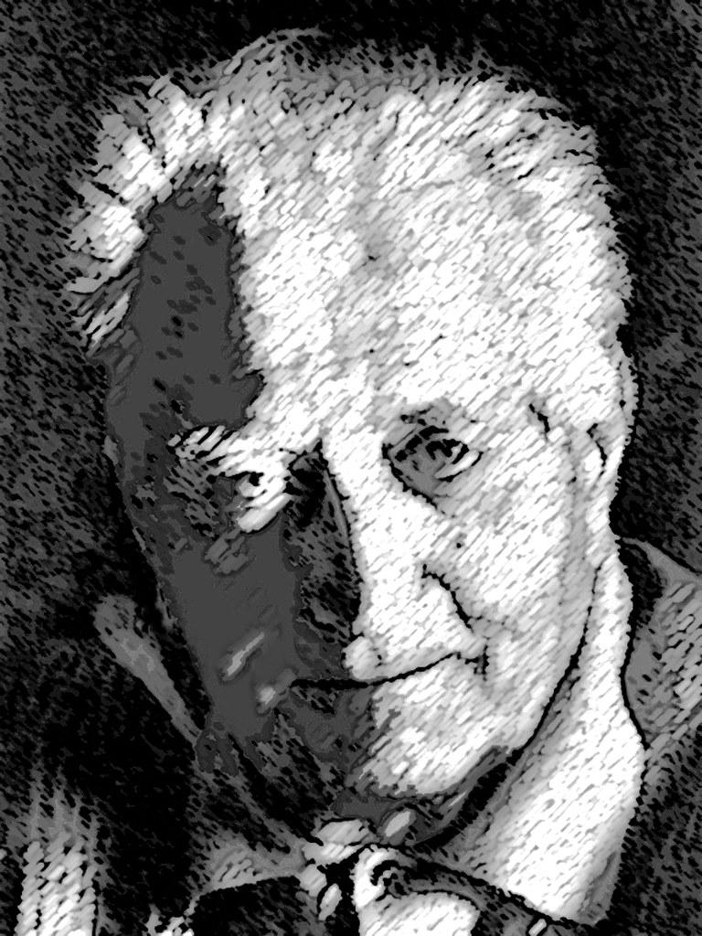 Jean Giono craie et fusain