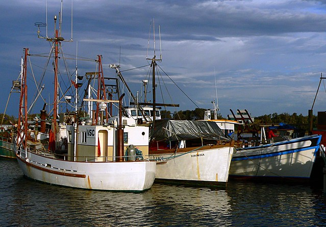 Fishing boats Lakes Entrance Victoria.