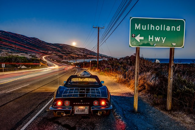 Follow Your Dreams in 2014! Malibu Moonrise Over Old Corvette! Nikon D800E HDR Photos: Final Cut HDR Malibu Landscapes for Los Angeles Gallery Show