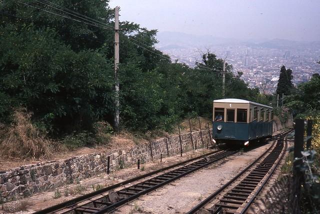 JHM-1979-1066 - Espagne (Catalogne), Barcelone, funiculaire de Montjuic