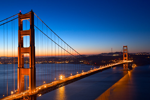 Golden Dawn Bridge - HDR