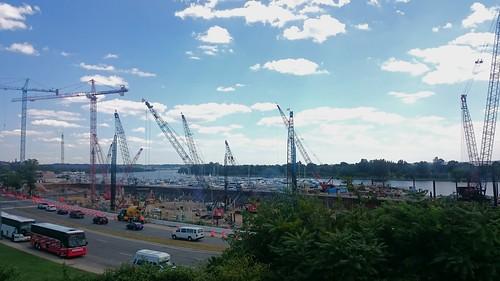 Cranes at the Wharf, 22 July