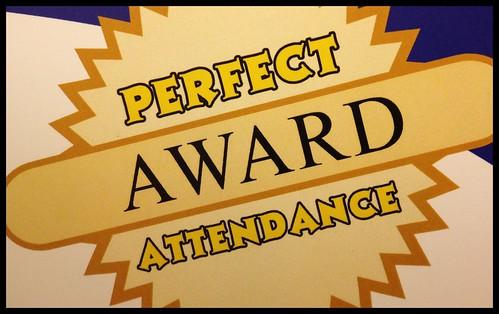 302/365 ~ Perfect Attendance #award