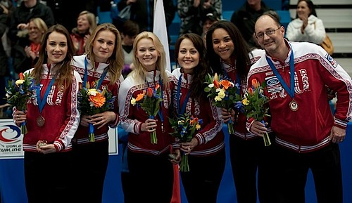 Saint John N.B.Mar23_2014.Ford World Woman's Curling Championship,Bronze Medal Team Russia.CCA/michael burns photo | by seasonofchampions