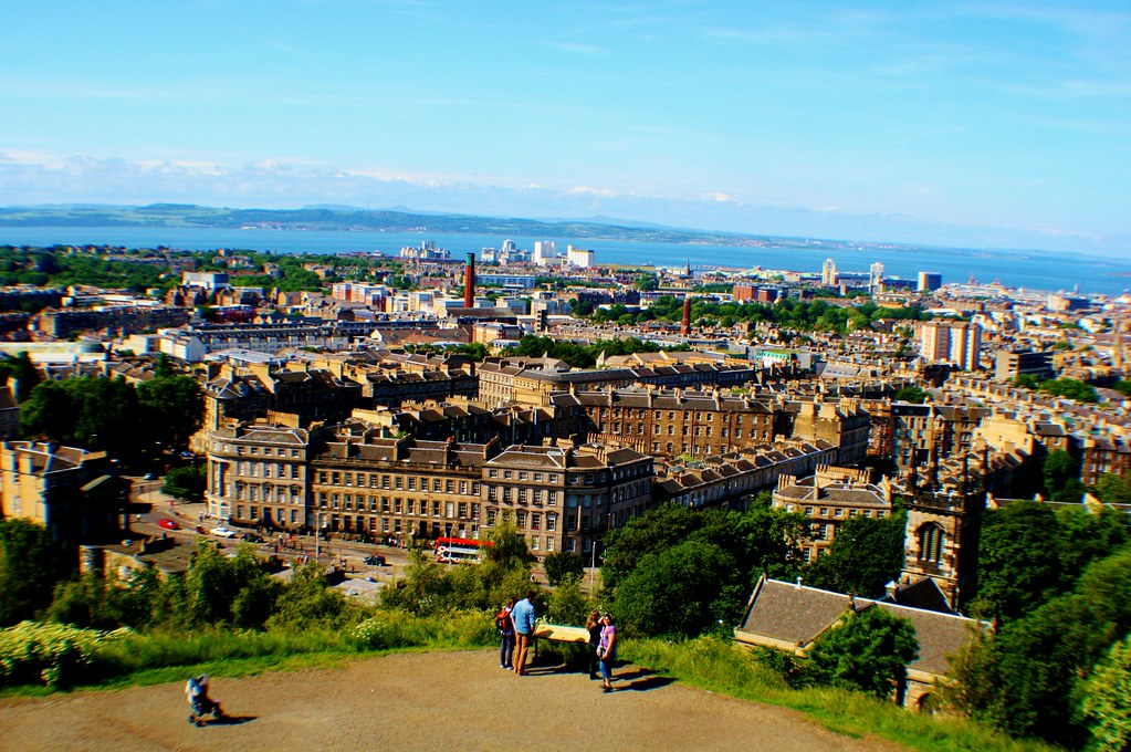 Leith, Firth of Forth and Fife Coast from Calton Hill, Scotland