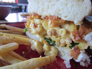 Mac and Cheese Burger at White Owl Social Club