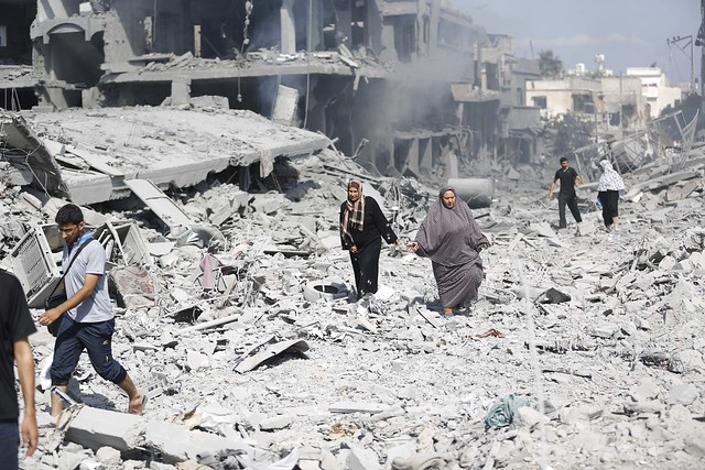 Destruction in Gaza, 27 July