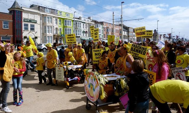 photo of anti-fracking demonstration UK