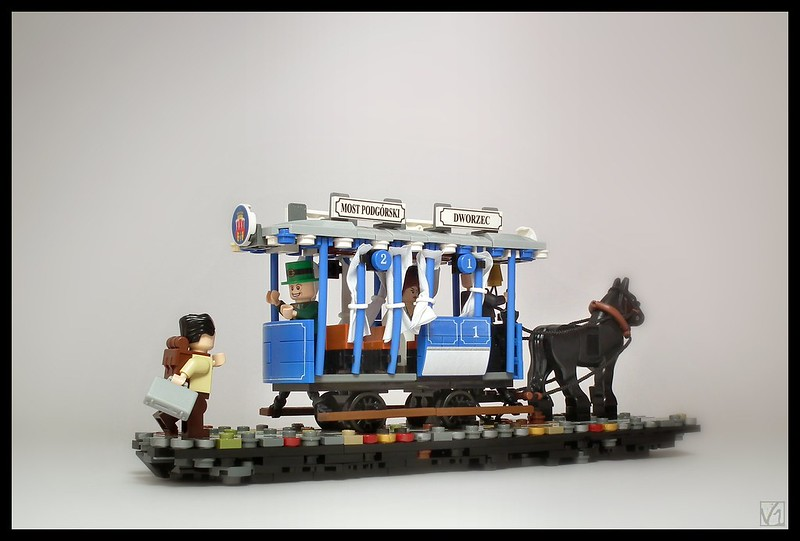 Tramway de la fin 1800 à Cracovie en lego. Photo de Karwik @ Flickr