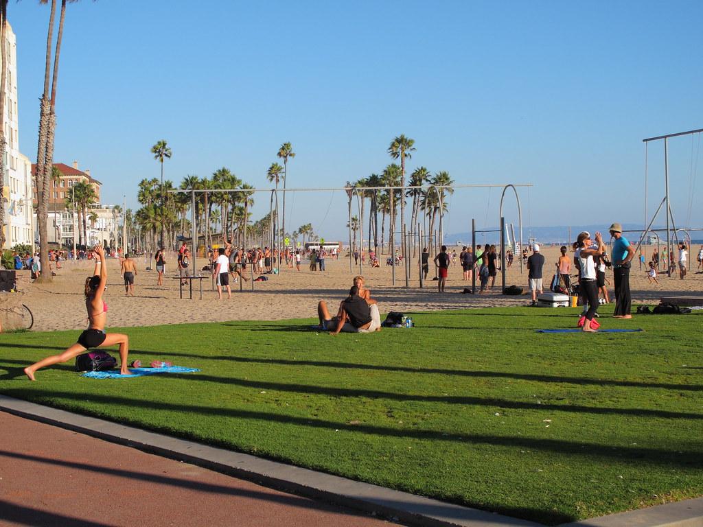 Muscle Beach area, Santa Monica