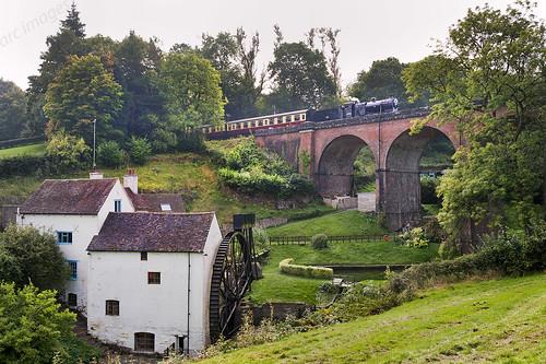 Midland railway 4f oldbury viaduct bridgnorth severn valley railway autumn steam gala 2014