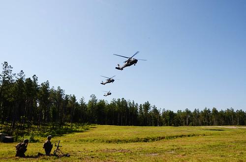 Va. Guard aviators support Marines at Fort A.P. Hill.