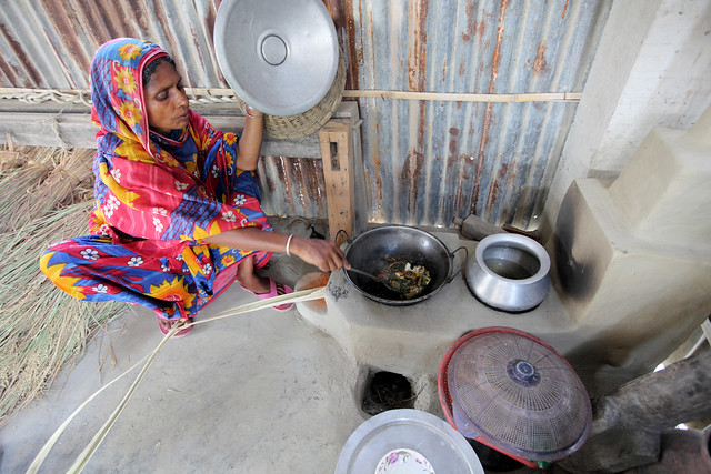 Woman preparing a healthy meal for her family in Satkhira, Bangladesh. Photo by M. Yousuf Tushar. April 21, 2014