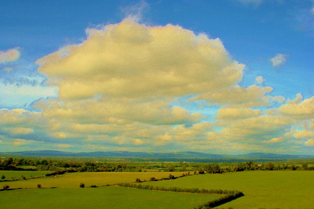 Tipperary landscape from Rock of Cashel.