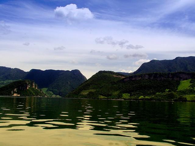 Lago nel Canyon del Sumidero