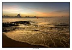 Kourou, lever de soleil sur l'océan