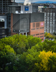 View of Bell Centre from room at Holiday Inn Hotel Centre-ville Ouest Montreal Quebec Canada