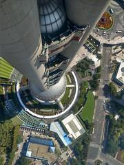 Blick nach unten - Oriental Pearl Tower, Shanghai