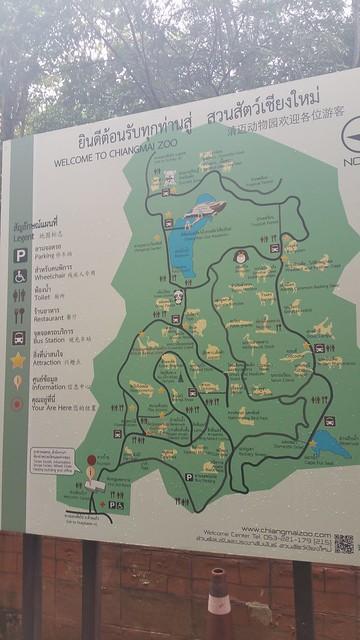 Chiang Mai Zoo map