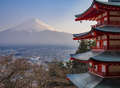 Mount Fuji and the Chureito Pagoda