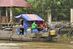 La vie dans le delta du Mékong