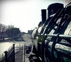 Ташкент. Вид с паровозной площадки.  Tashkent. View from the steam locomotive.