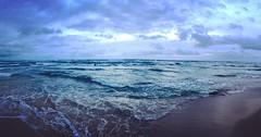 Blue Kauai sunrise. Cloudy morning blues