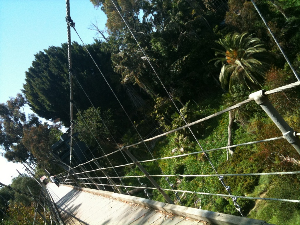 Suspension Bridge. Bankers Hill, San Diego