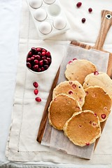Morning Cranberry Orange Pancakes | by tartelette