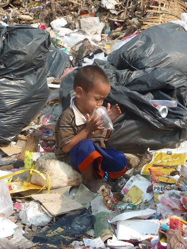 Playing at the rubbish dump. | by thebestfriend.org