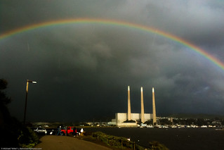 Full 180-degree Rainbow over Morro Bay, CA, with Dynegy aka Duke Energy under arch, 21 Jan 2010 | by mikebaird
