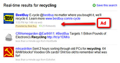 Best Buy Promoted Tweet for recycling | by search-engine-land