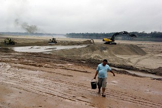 Dredging the Mekong in Vientiene | by The Hungry Cyclist