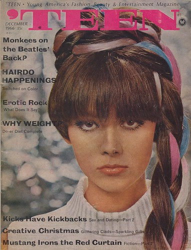 Teen Magazine December 1966 Featuring Articled On The