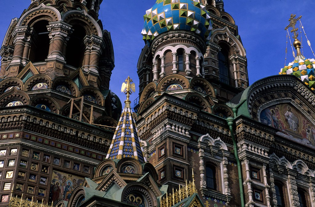 Russia, St Petersburg, The Church of Our Savior on the Spilled Blood (2)