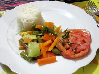 Veggies and Rice | by veganbackpacker