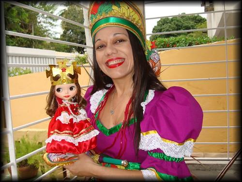 Tainara Batistella A Minha Pequena: Eu E Minha Pequena Rainha Do Maracatu!