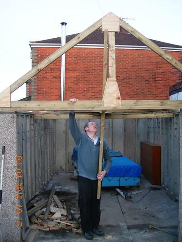 Modular Garage Roof Truss Final Assembly Dscn2142 John C