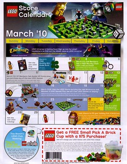 Lego Store Calender March 2010 | by brickapolis
