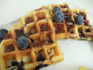Fresh Blueberry Waffles | by swampkitty