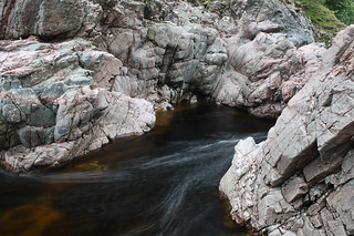Granite beside veins of Ophicalcite marble west of the Forest Lodge, Glen Tilt. | by Shandchem